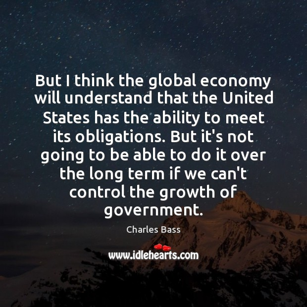 But I think the global economy will understand that the United States Image