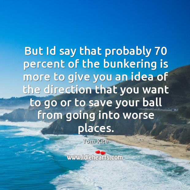 But Id say that probably 70 percent of the bunkering is more to Image