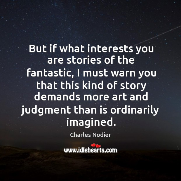 Image, But if what interests you are stories of the fantastic, I must