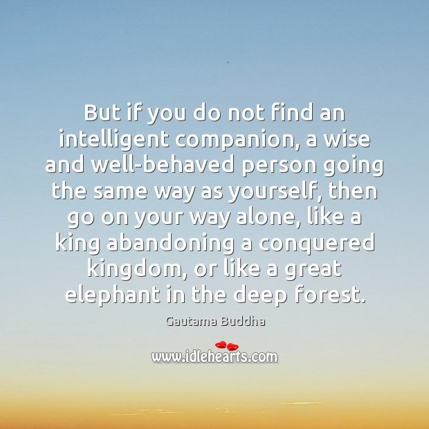 But if you do not find an intelligent companion, a wise and Image