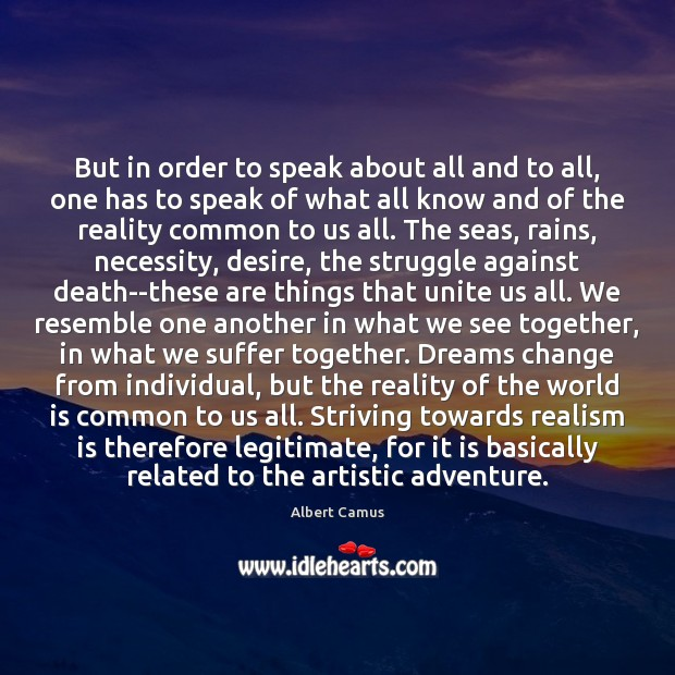 But in order to speak about all and to all, one has Image