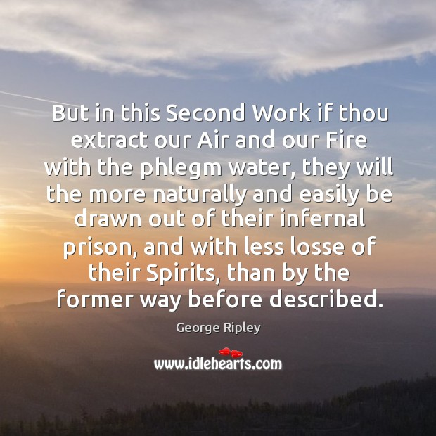 But in this second work if thou extract our air and our fire with the phlegm water Image