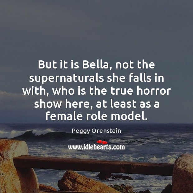 Image, But it is Bella, not the supernaturals she falls in with, who