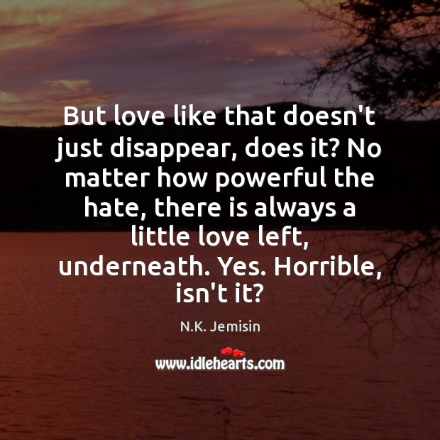 Image, But love like that doesn't just disappear, does it? No matter how