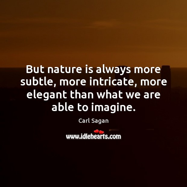 Image, But nature is always more subtle, more intricate, more elegant than what