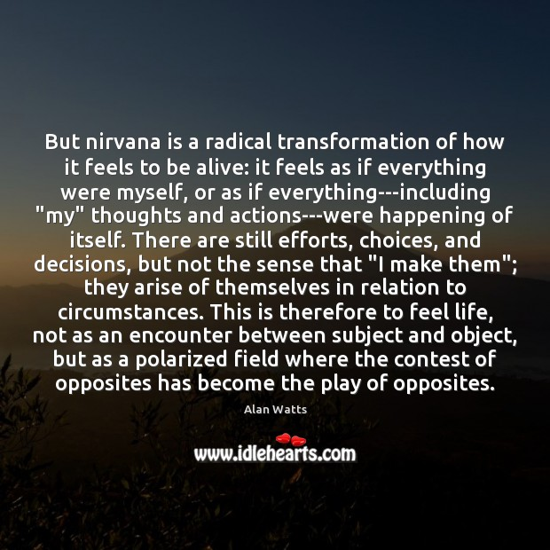 Image, But nirvana is a radical transformation of how it feels to be