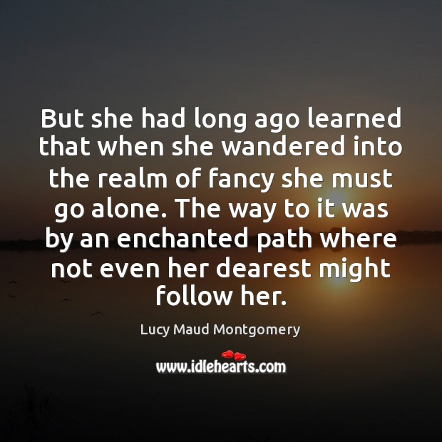 But she had long ago learned that when she wandered into the Image