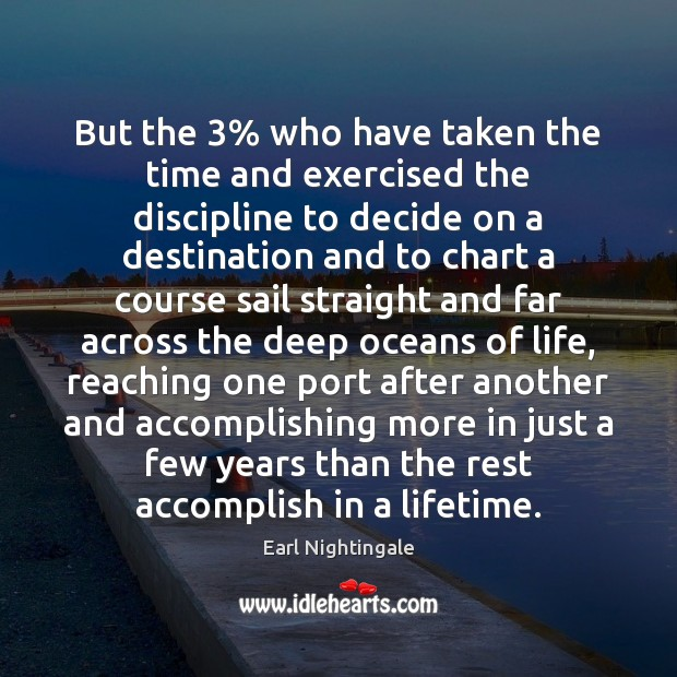 But the 3% who have taken the time and exercised the discipline to Image