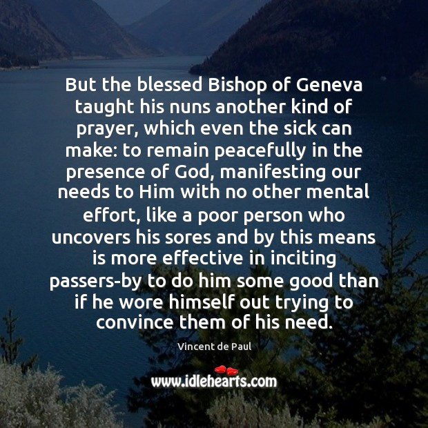 Image, But the blessed Bishop of Geneva taught his nuns another kind of