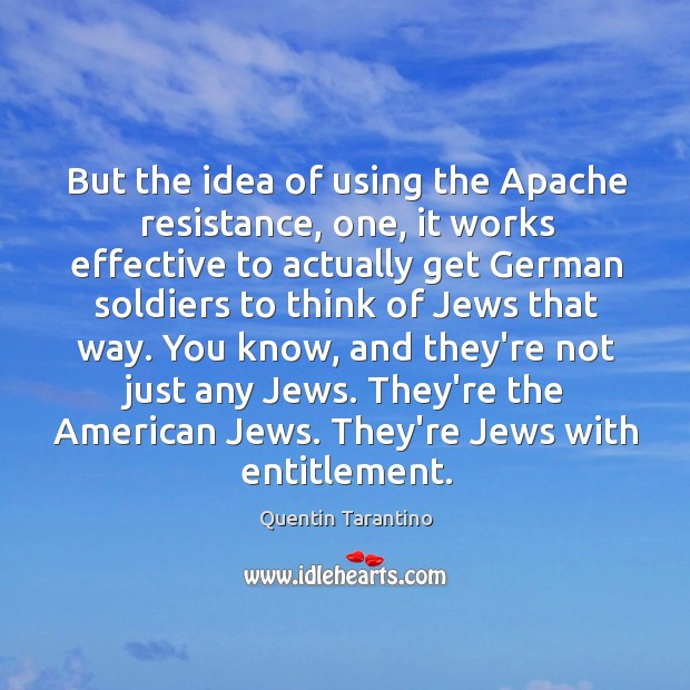 But the idea of using the Apache resistance, one, it works effective Image
