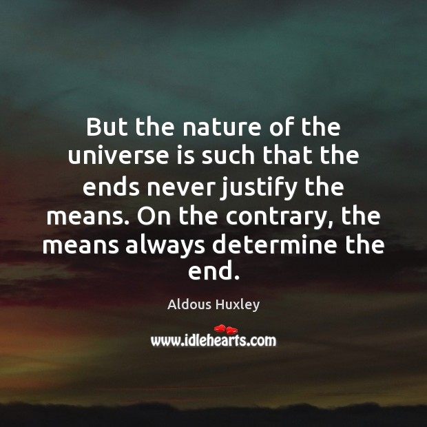 Image, But the nature of the universe is such that the ends never