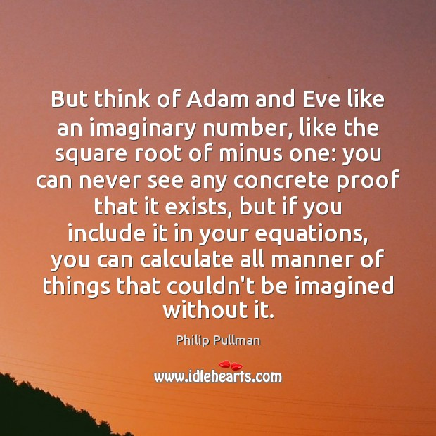 Image, But think of Adam and Eve like an imaginary number, like the