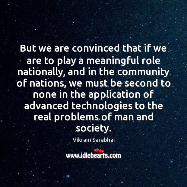 Image, But we are convinced that if we are to play a meaningful