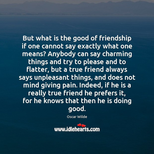 Image, But what is the good of friendship if one cannot say exactly