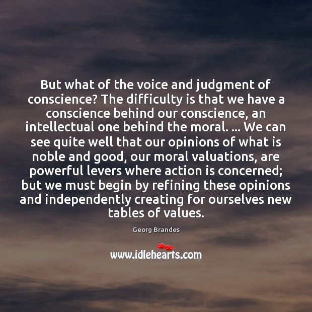 But what of the voice and judgment of conscience? The difficulty is Image