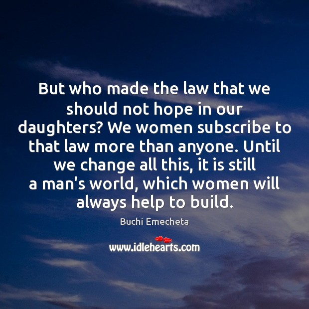 Image, But who made the law that we should not hope in our