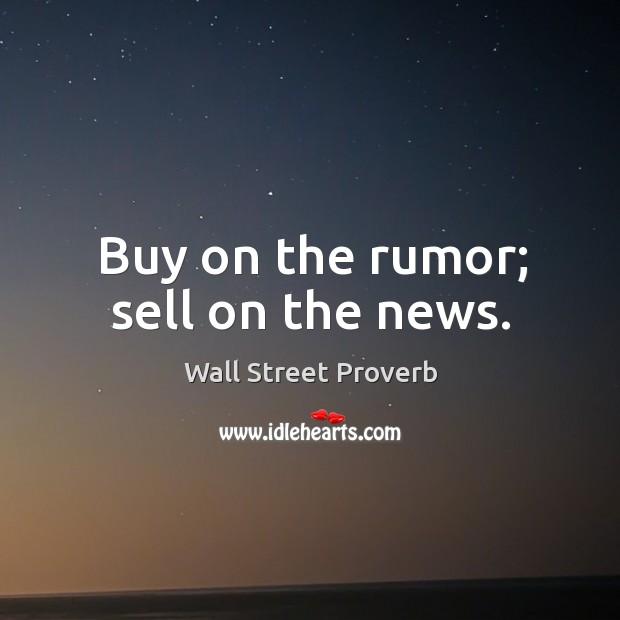 Wall Street Proverbs