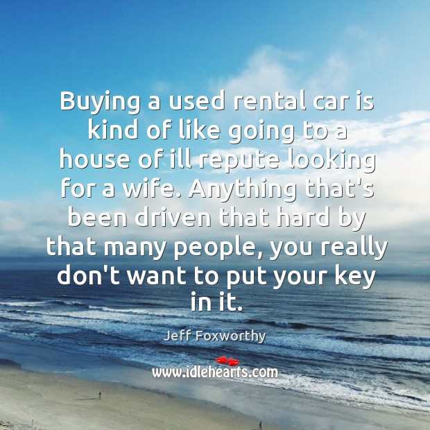 Buying a used rental car is kind of like going to a Image