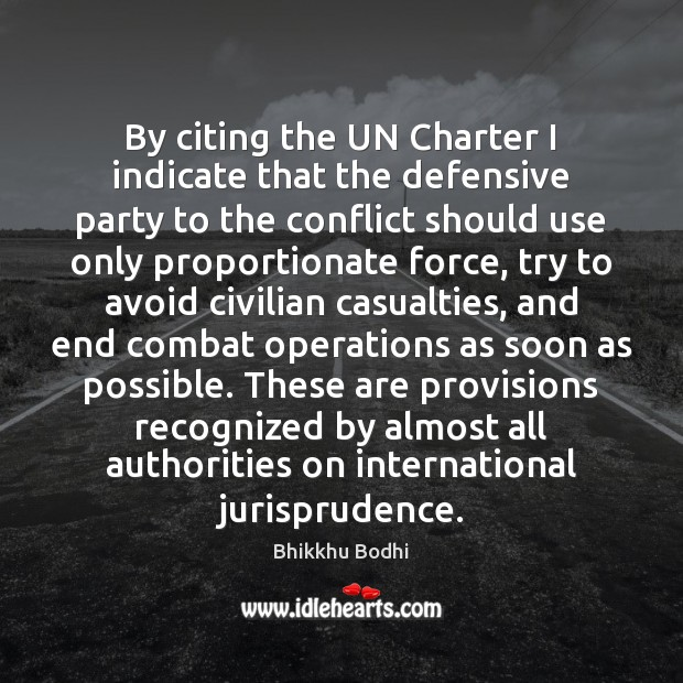 Image, By citing the UN Charter I indicate that the defensive party to