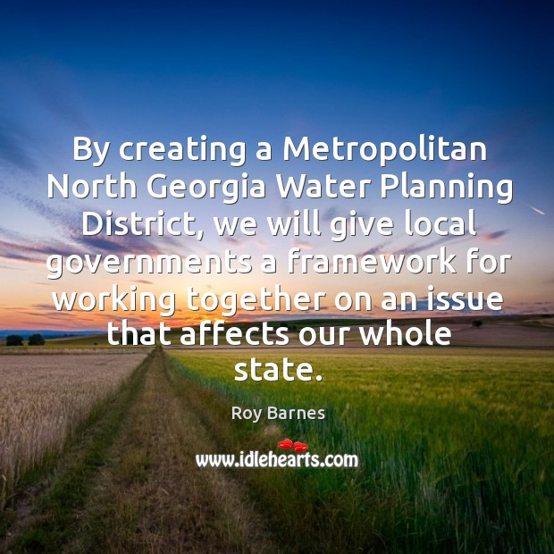By creating a metropolitan north georgia water planning district Image