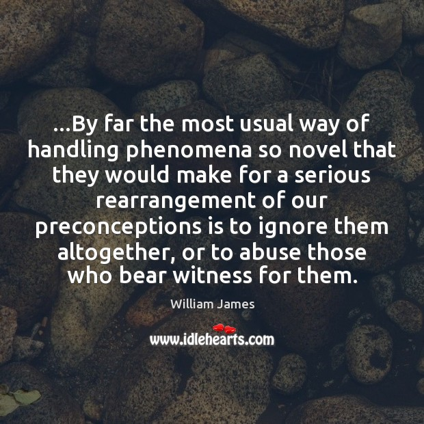 …By far the most usual way of handling phenomena so novel that Image