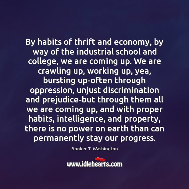 Image, By habits of thrift and economy, by way of the industrial school