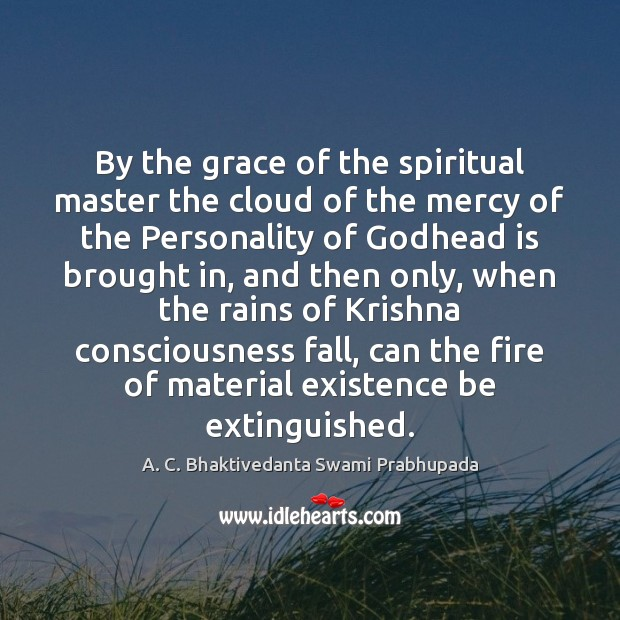 Image, By the grace of the spiritual master the cloud of the mercy