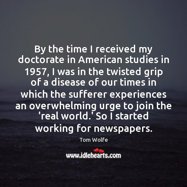By the time I received my doctorate in American studies in 1957, I Image