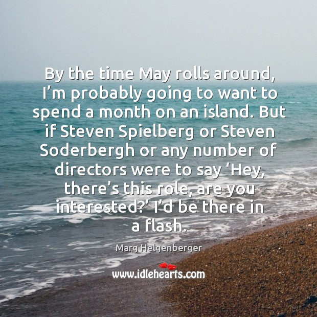 By the time may rolls around, I'm probably going to want to spend a month on an island. Image