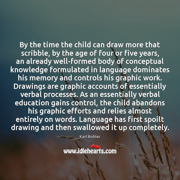 Image, By the time the child can draw more that scribble, by the