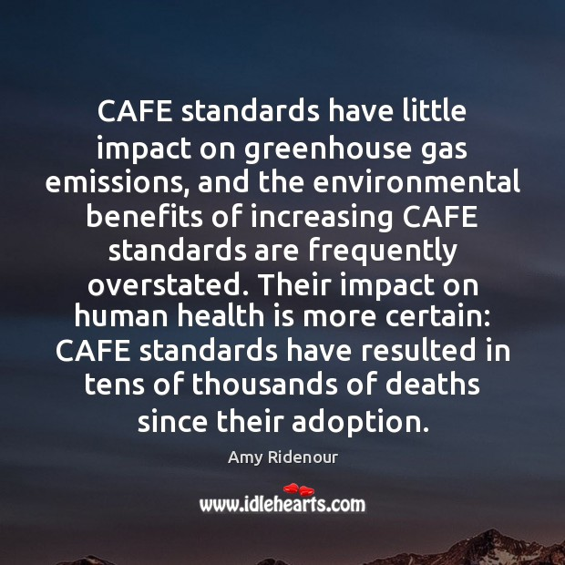 Image, CAFE standards have little impact on greenhouse gas emissions, and the environmental