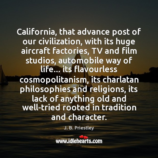 Image, California, that advance post of our civilization, with its huge aircraft factories,