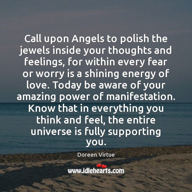 Call upon Angels to polish the jewels inside your thoughts and feelings, Image