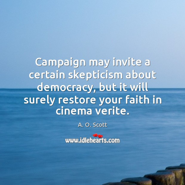 Image, Campaign may invite a certain skepticism about democracy, but it will surely