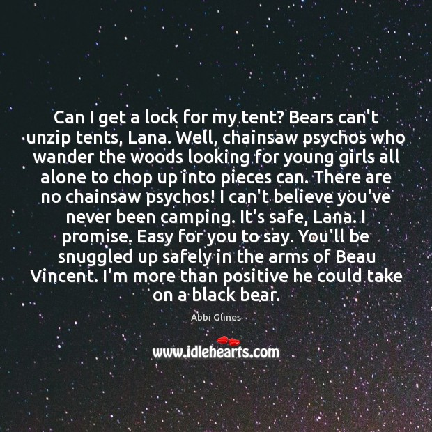 Image, Can I get a lock for my tent? Bears can't unzip tents,