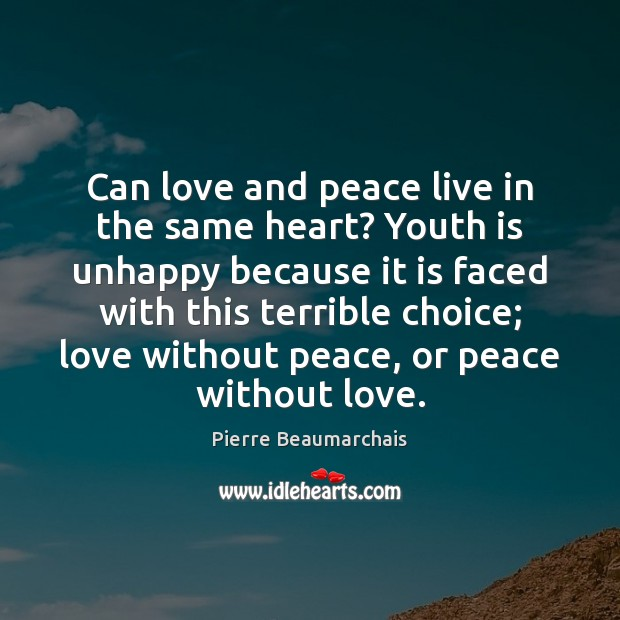 Can love and peace live in the same heart? Youth is unhappy Image