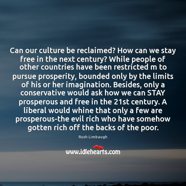 Can our culture be reclaimed? How can we stay free in the Image