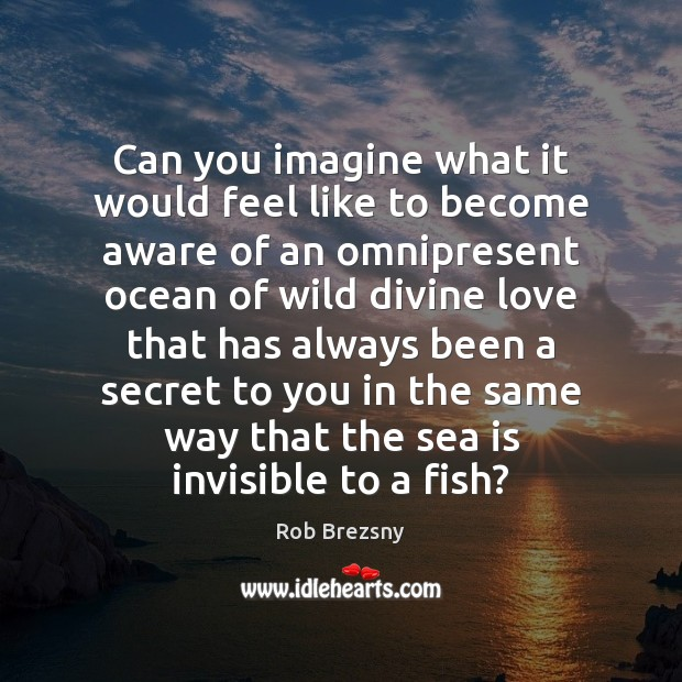 Can you imagine what it would feel like to become aware of Rob Brezsny Picture Quote