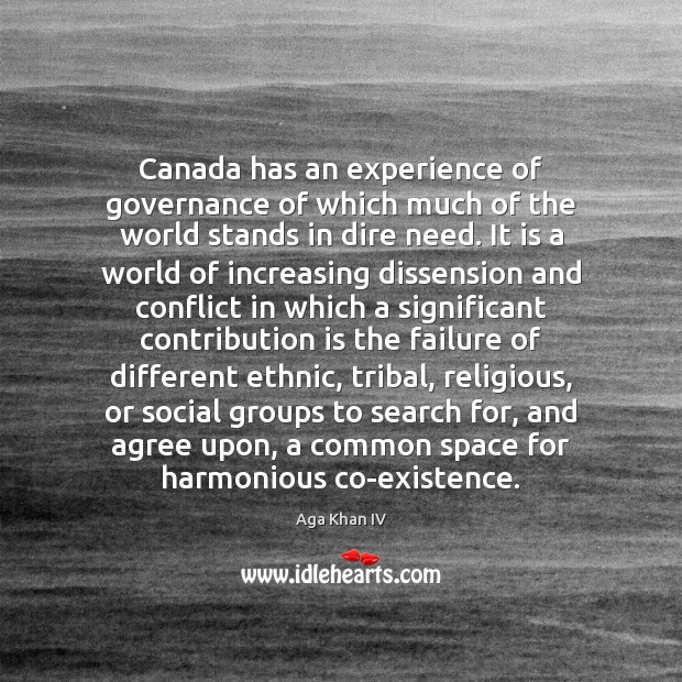 Image, Canada has an experience of governance of which much of the world