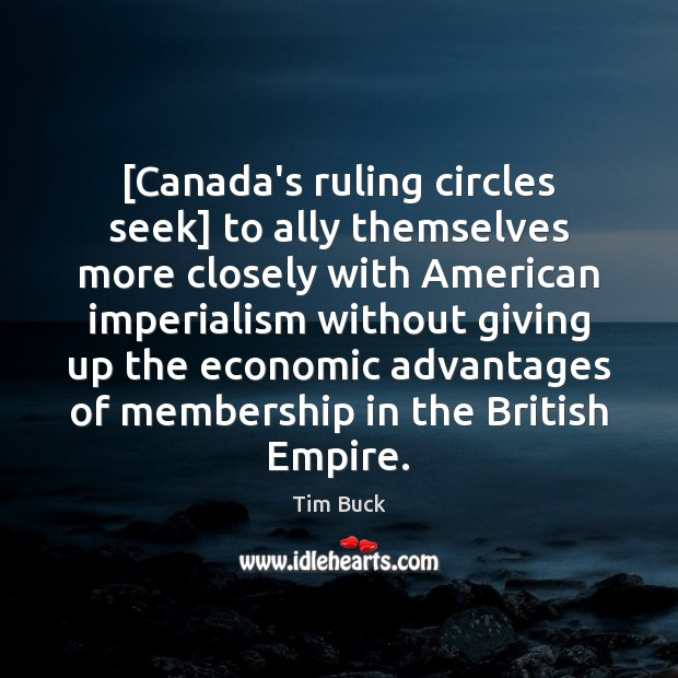 Image, [Canada's ruling circles seek] to ally themselves more closely with American imperialism