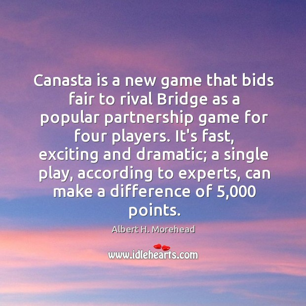 Canasta is a new game that bids fair to rival Bridge as Image