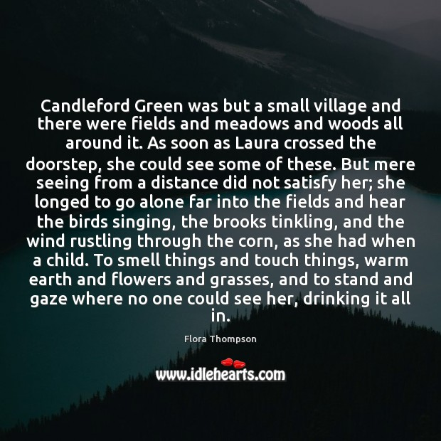 Candleford Green was but a small village and there were fields and Image