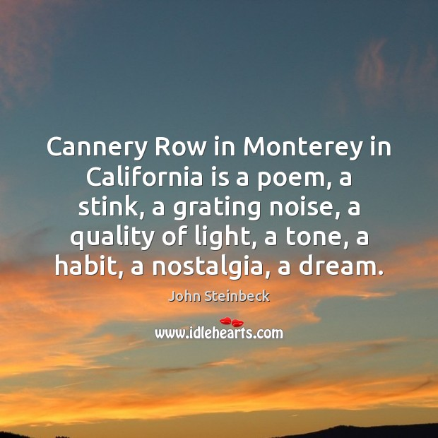 Image, Cannery Row in Monterey in California is a poem, a stink, a