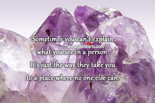 Sometimes you can't explain what you see. Image