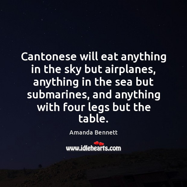 Image, Cantonese will eat anything in the sky but airplanes, anything in the