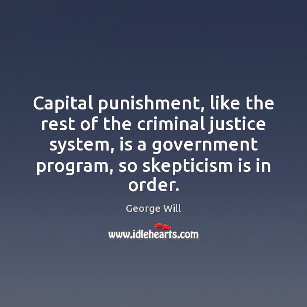 Capital punishment, like the rest of the criminal justice system, is a Image
