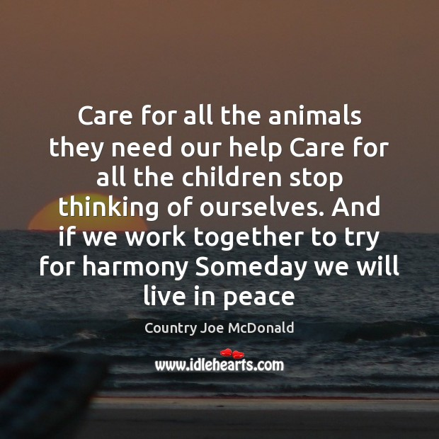 Care for all the animals they need our help Care for all Image