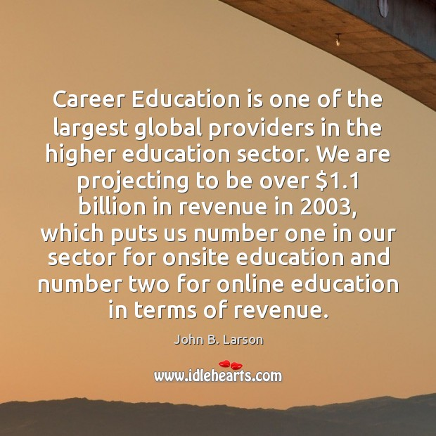 Career Education is one of the largest global providers in the higher Image