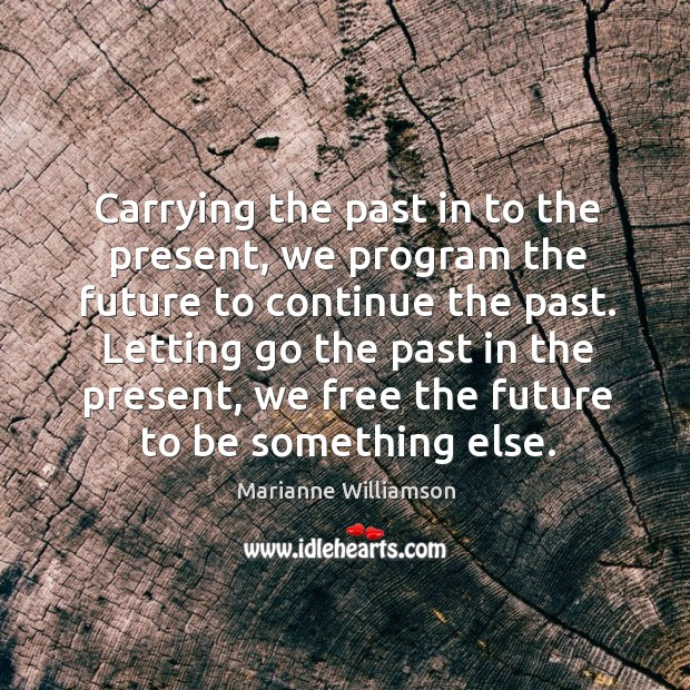 Image, Carrying the past in to the present, we program the future to