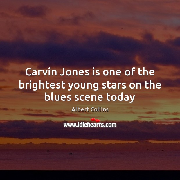 Carvin Jones is one of the brightest young stars on the blues scene today Image